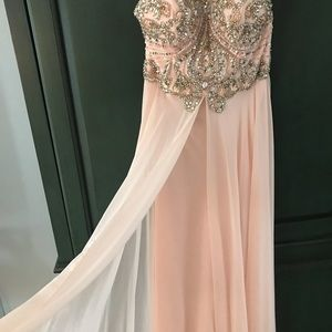 Jovani Beaded Halter Dress